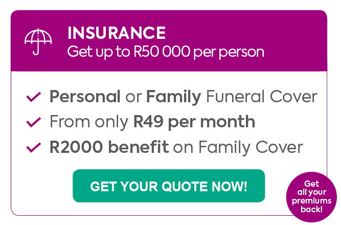 finchoice funeral cover, personal funeral cover, family funeral cover, funeral policy, up to R50 000 per person, insurance, R2 000 benefit on family, from R49 per month, add 4 parents, get all your premiums back, premium cashback, premium cashback when you claim, 48 hour payout, no medical examination, cover up to 11 people